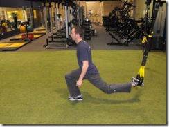 Single leg lunge bottom